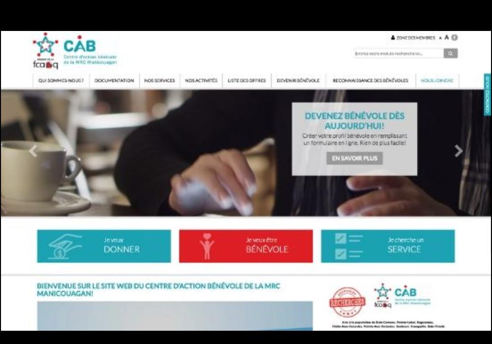 Un nouveau site Internet pour le CAB de la MRC Manicouagan!