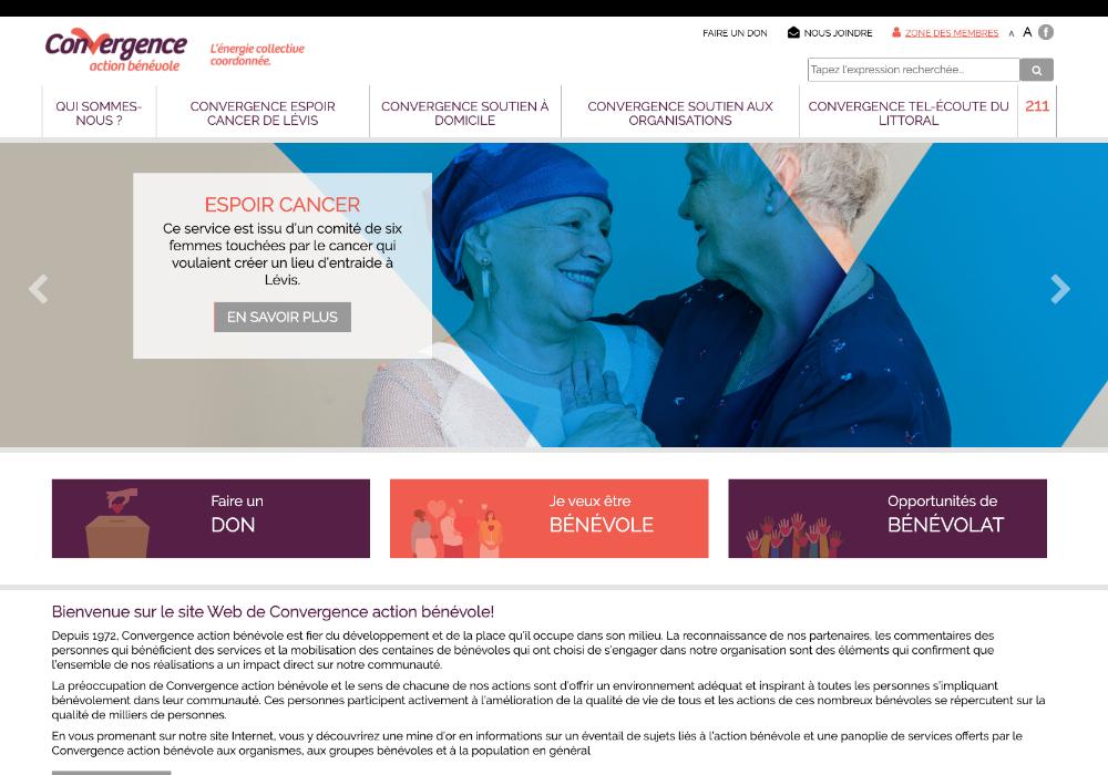 Une nouvelle image pour Convergence action bénévole